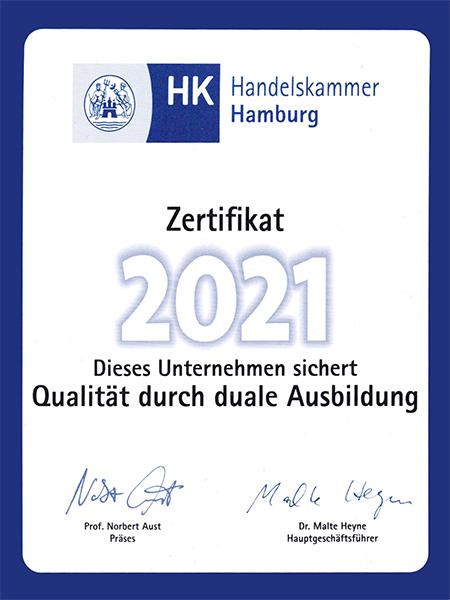 Zertifikat 2021, Duale Ausbildung